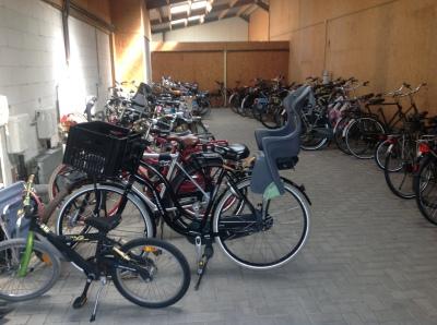 Overdekte fietsenstalling